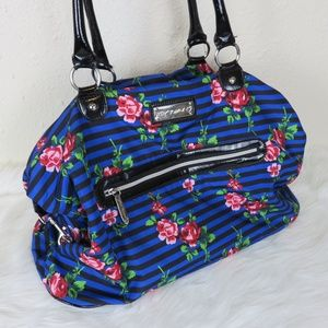 Betsey Johnson Weekender Floral Duffel Tote Bag
